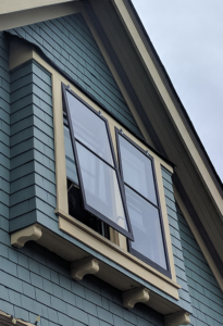 Operable Storm Window on Second Level