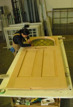 Handcrafted Vintage Woodworks Door