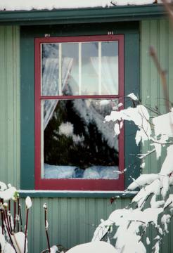 Storm Window in Winter