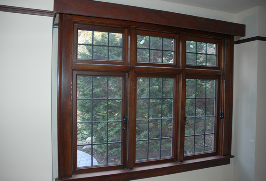 Dark Wood Custom Window